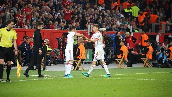 Матч Кубка Германии Байер - Бавария