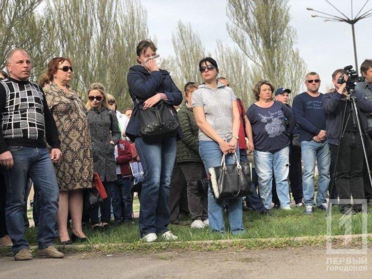 Молебен на месте смертельного ДТП в Кривом Роге