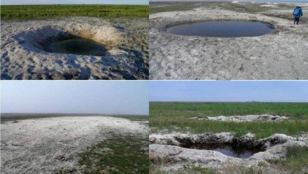 Следы разрывовов боеприпапасов в Черноморском биосферном заповеденике