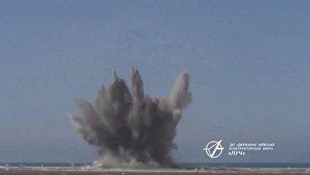 Попадение ракеты Ольха в цель