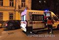 Скорая на месте драки в троллейбусе в Киеве, 18 апреля 2018