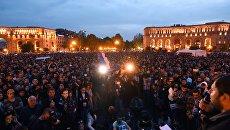 Акции протеста оппозиции в Ереване