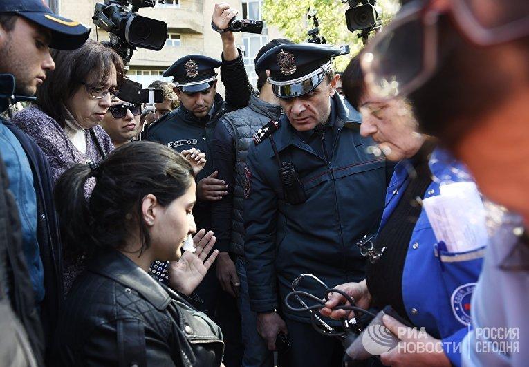 Акция протеста оппозиции в Ереване