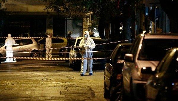 Криминалисты на месте преступления в Греции