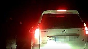Во Львовской области полиция устроила погоню за пьяным именинником на Lexus