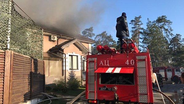 Пожар в ресторане Боровик в Вышгородском районе Киевской области