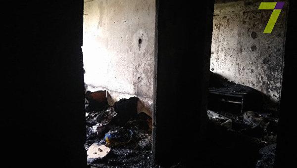 Пожар в жилом доме Одессы