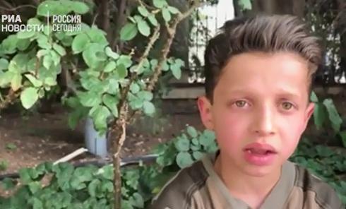 """Раненый мальчик из Сирии сообщил, как снимали ролик о """"химатаке"""". Видео"""