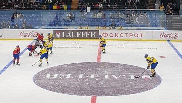 Хоккейный матч юниорских сборных Украины и Румынии