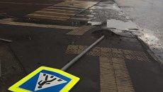 Выложены новые кадры жуткого урагана в Москве. Видео