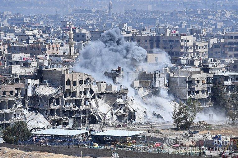 В итоге обстрела жилых кварталов Дамаска погибли два человека
