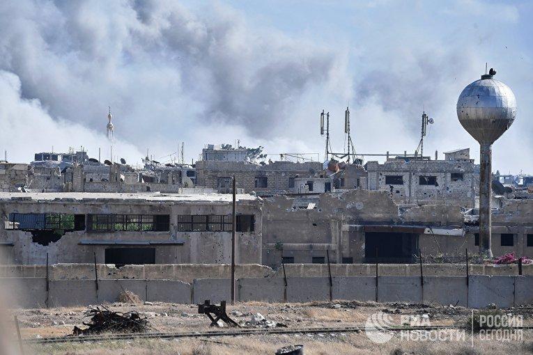 Русские военные сказали обобстреле боевиками жилых кварталов Дамаска