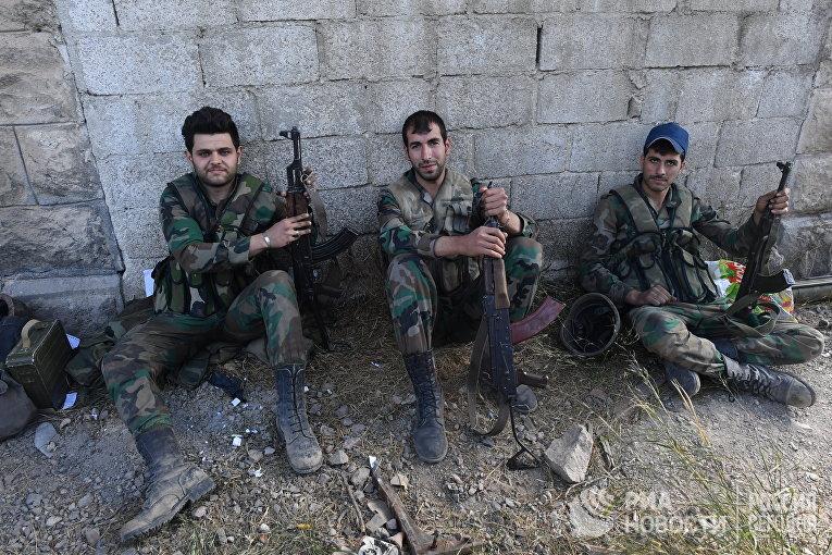 Ситуация в районе лагеря беженцев Ярмук на юге Дамаска