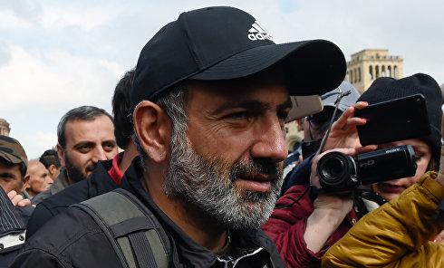 """Лидер протестного движения """"Мой шаг"""" Никол Пашинян"""