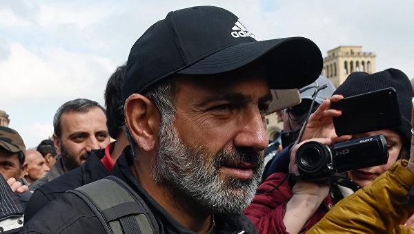 Лидер протестного движения Мой шаг Никол Пашинян