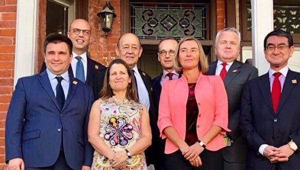 Павел Климкин и главы МИД стран G7