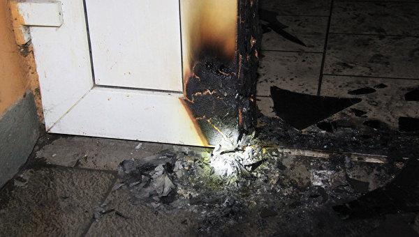 Пожар в институте хирургии в Донецке