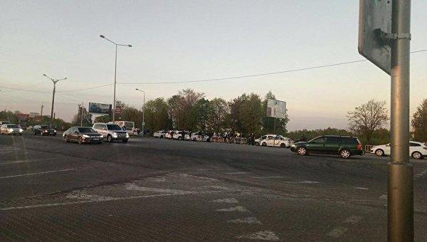 На месте избиения водителя автобуса во Львове ультрас Динамо