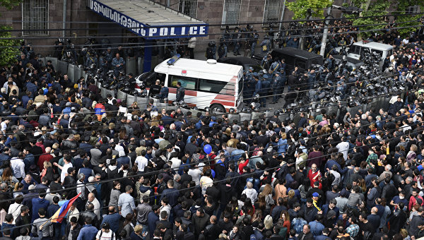 Ситуация в Ереване, 22 апреля 2018