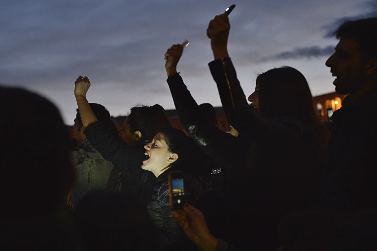 Масштабные протесты в Ереване