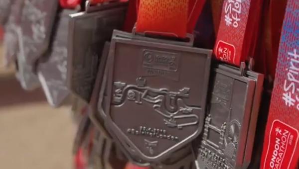 Медали для участников Лондонского марафона