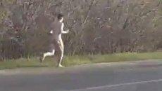 В Запорожской области по дороге бегал голый мужчина