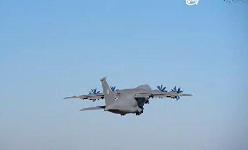 Антонов показал захватывающее видео вылета прототипа самолета АН-77