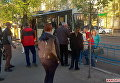 На месте избиения водителя троллейбуса в Житомире группой молодых людей