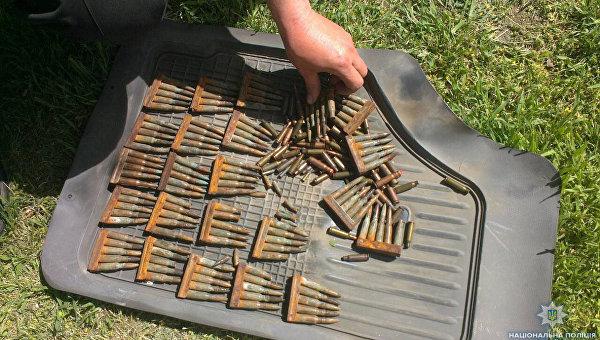 Изъятые в Херсонской области патроны