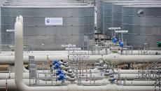 Участок магистрального газопровода Северный поток в немецком городе Любмин. Архивное фото