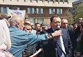 В Запорожье на митинге послали губернатора Константина Брыля