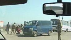 Задержание ополченца ЛНР на КПП Зайцево. Видео