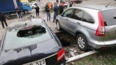Масштабный прорыв трубы в Киеве