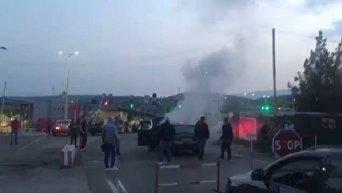 Пожар на КПП Ужгород