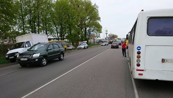 Под Киевом протестующие снова перекрыли одну из ключевых дорог