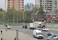 В Харькове трамвай протаранил грузовик с передвижной флюорографией. Видео