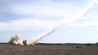 Петр Порошенко показал испытания ракеты Ольха