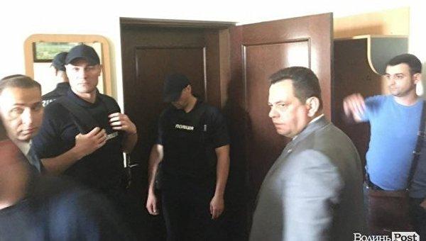 Обыск в кабинете заместителя мэра Луцка