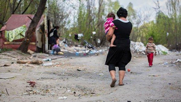 Ромское поселение на Троещине в Киеве