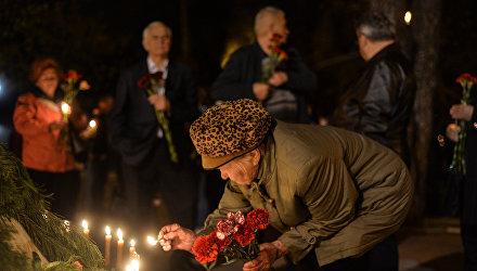 Возложение цветов к Мемориальному кургану Героям Чернобыля в Киеве