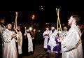 Возложение цветов к Мемориальному кургану Героям Чернобыля и молебен в Киеве