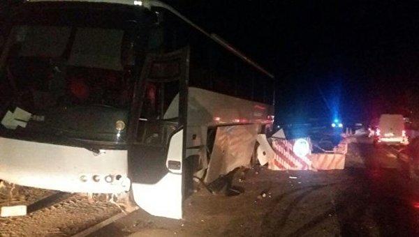 Туристический автобус попал в аварию в Закарпатье
