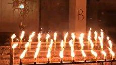 Годовщина катастрофы Чернобыльской АЭС: в Припяти ночью зажгли свечи. Видео