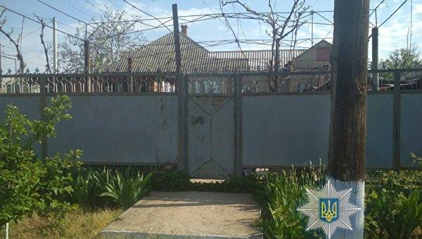 Дом, обстрелянный в Рени Одесской области