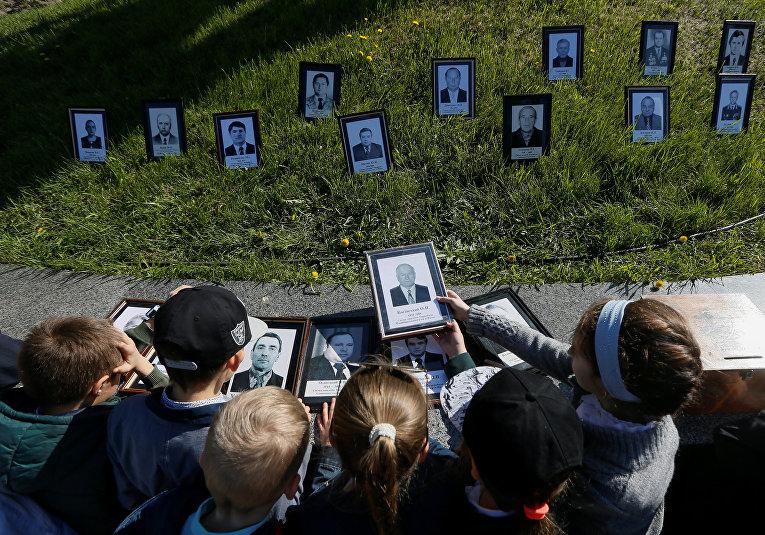 Церемония поминовения жертв Чернобыльской катастрофы
