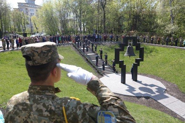 Митинг-реквием на территории Мемориального комплекса памяти жертв Чернобыля в Киеве
