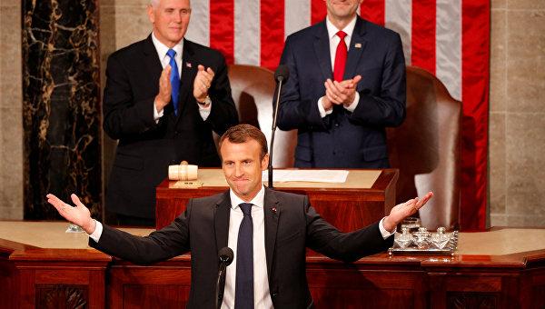 Эммануэль Макрон произнес речь перед Конгрессом США