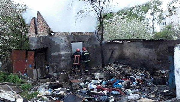 Пожар на Волыни в частном доме