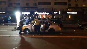 Взрыв авто в Киеве. Видео