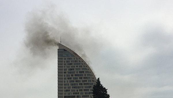 Здание Trump Tower загорелось в Баку